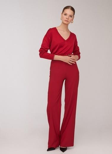 People By Fabrika Kontrast Detaylı Pantolon Kırmızı